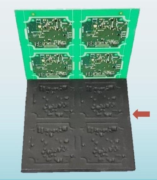 実装機印刷工程用CNT配合樹脂受け治具